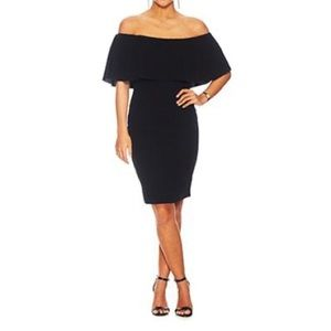 ALMOST FAMOUS Off Shoulder Ruffle Cocktail Dress L